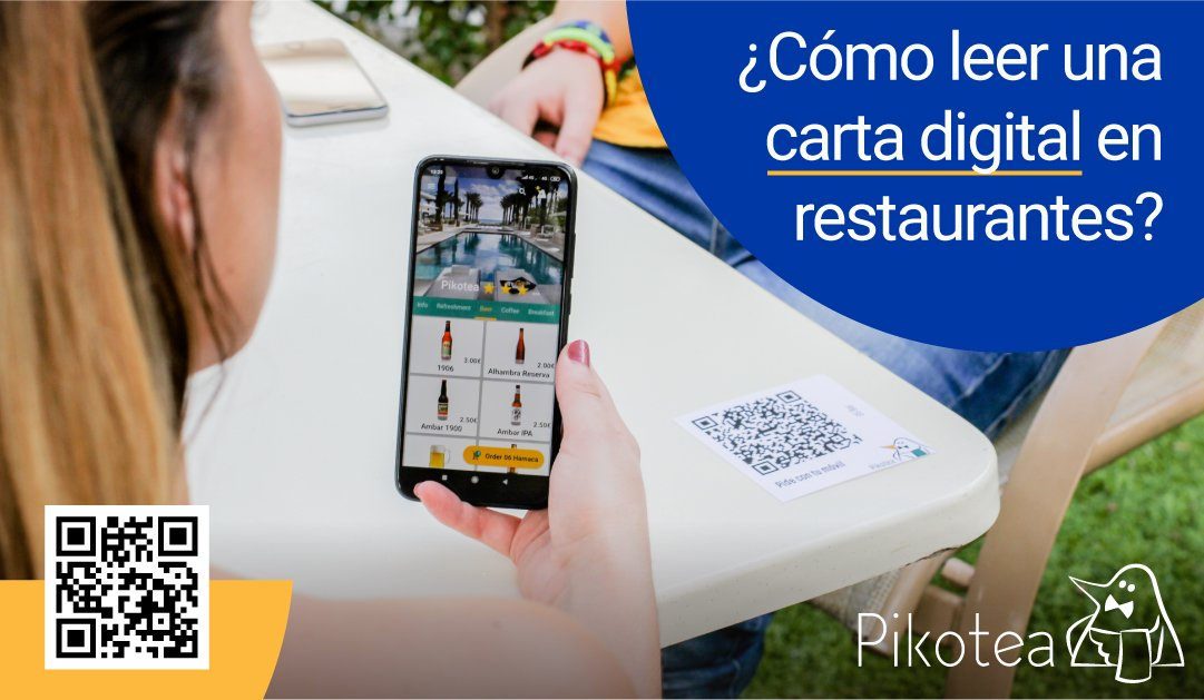 Leer la carta digital en restaurantes