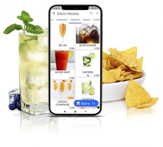 app pedidos discoteca bar de copas y pub