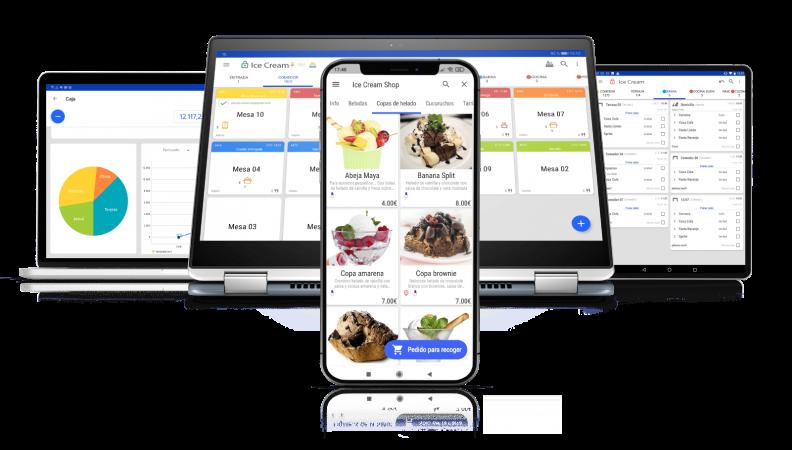 dispositivos software tpv para heladerias